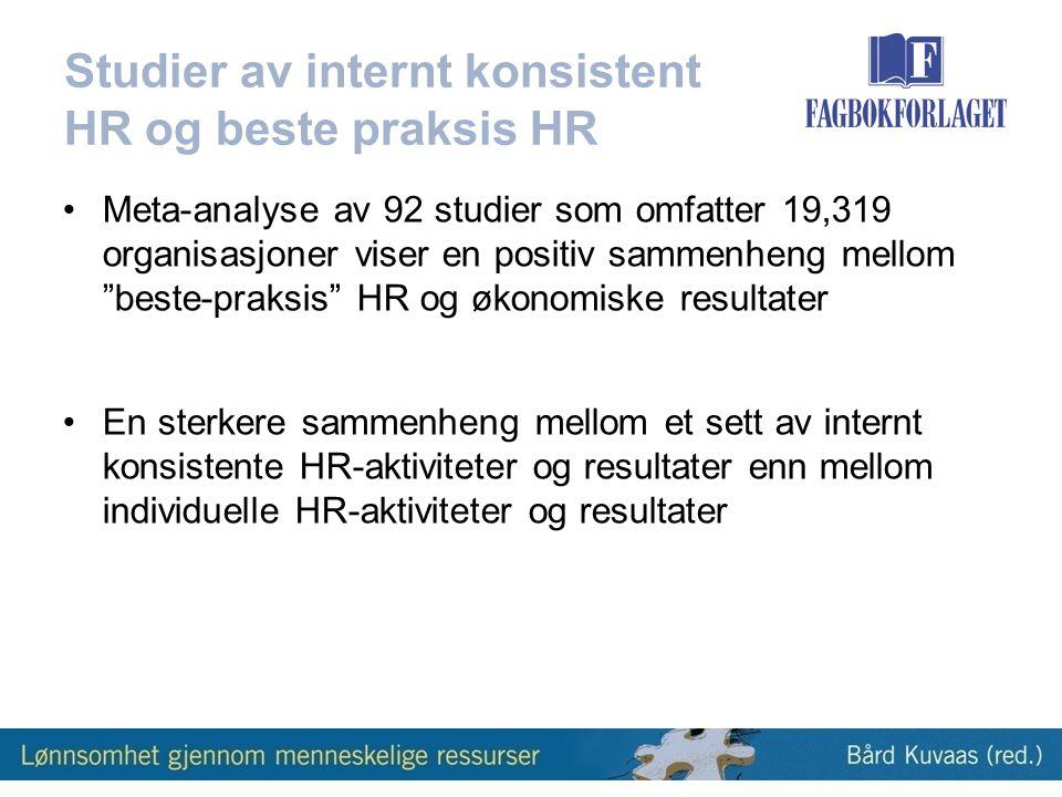 Studier av internt konsistent HR og beste praksis HR