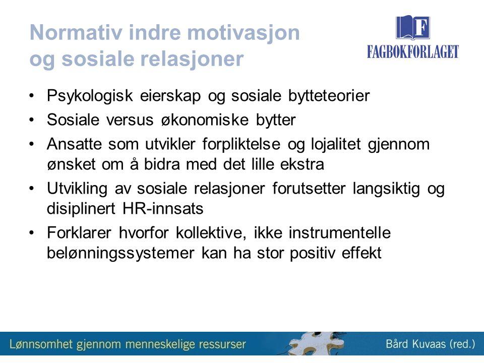 Normativ indre motivasjon og sosiale relasjoner