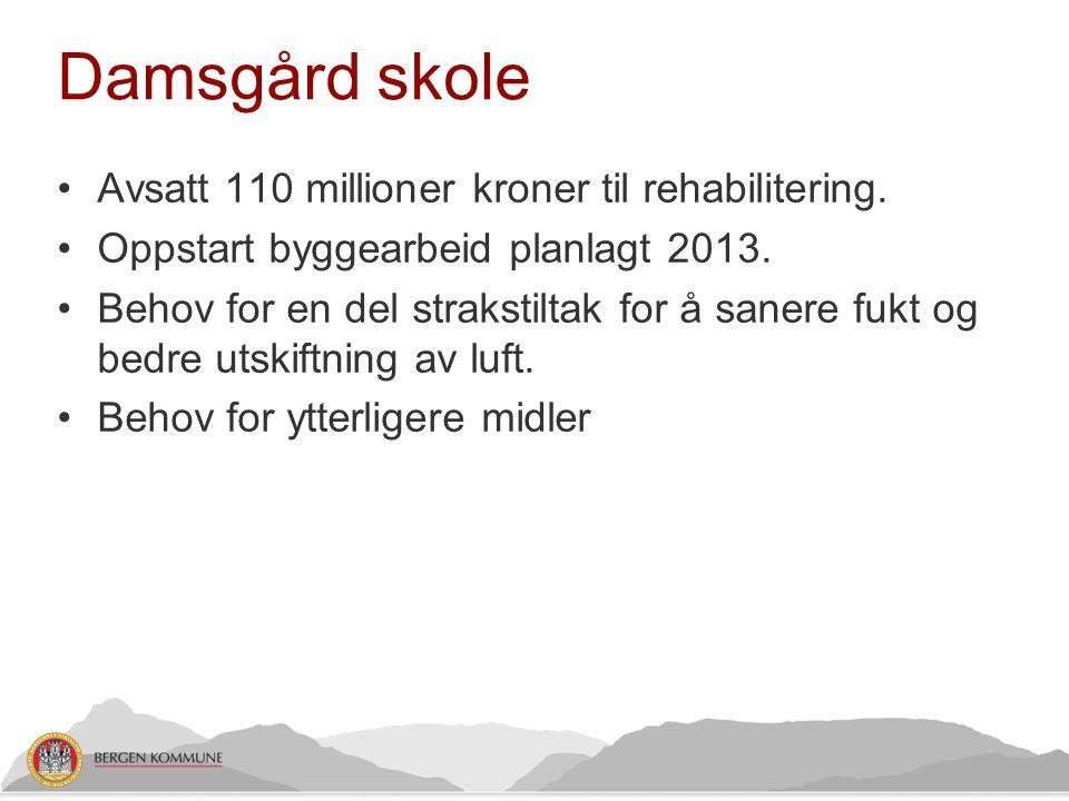 Damsgård skole Avsatt 110 millioner kroner til rehabilitering.