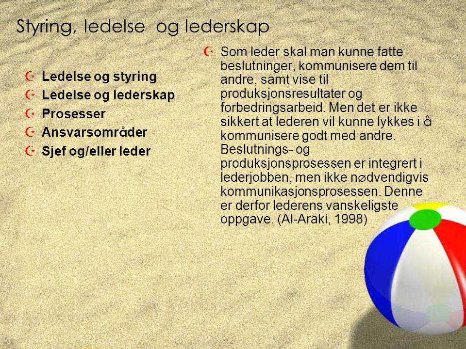 Styring, ledelse og lederskap