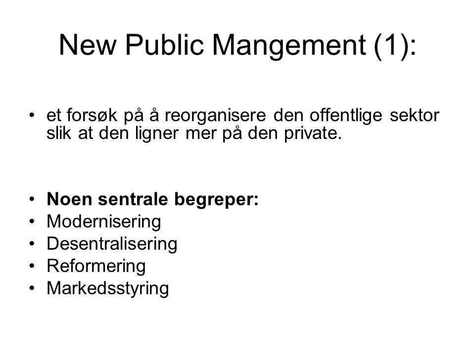 New Public Mangement (1):