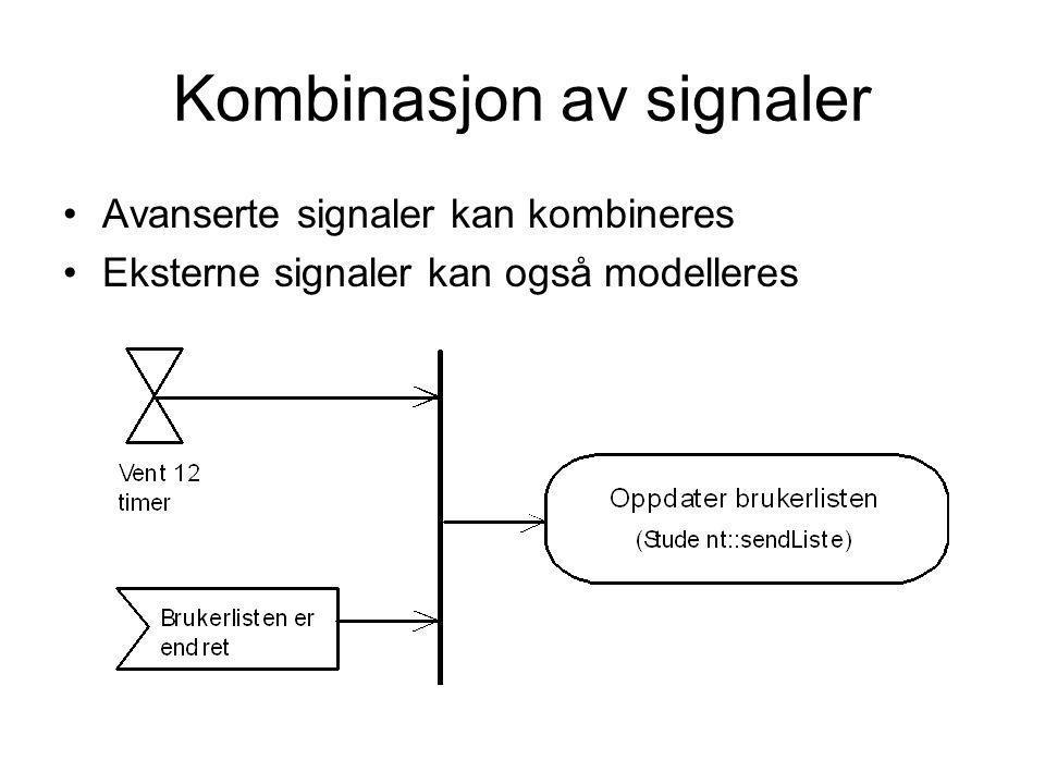 Kombinasjon av signaler