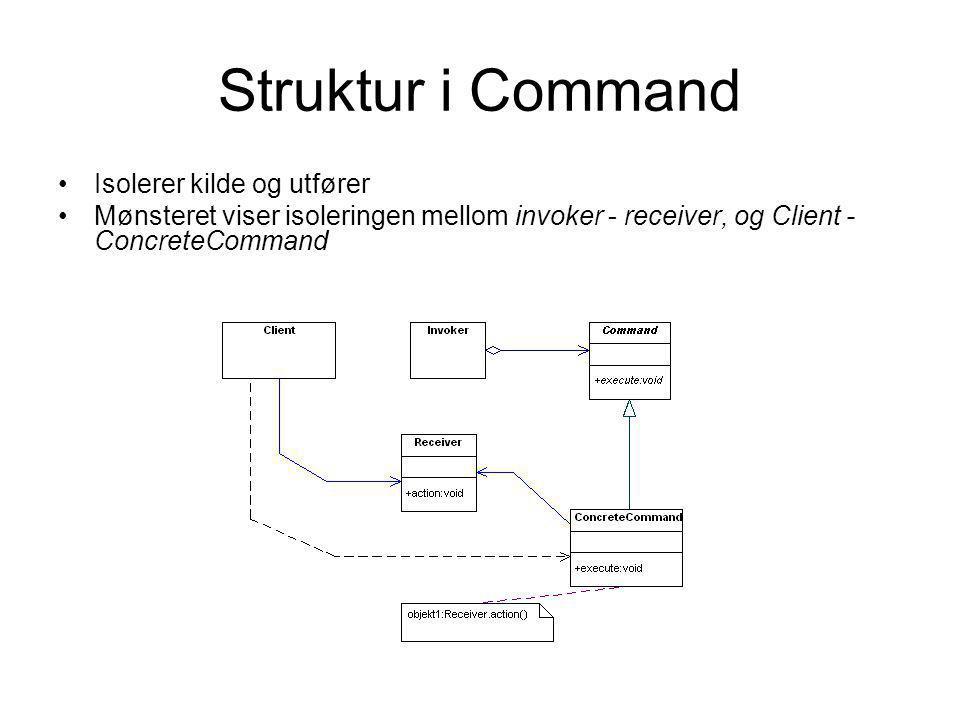Struktur i Command Isolerer kilde og utfører