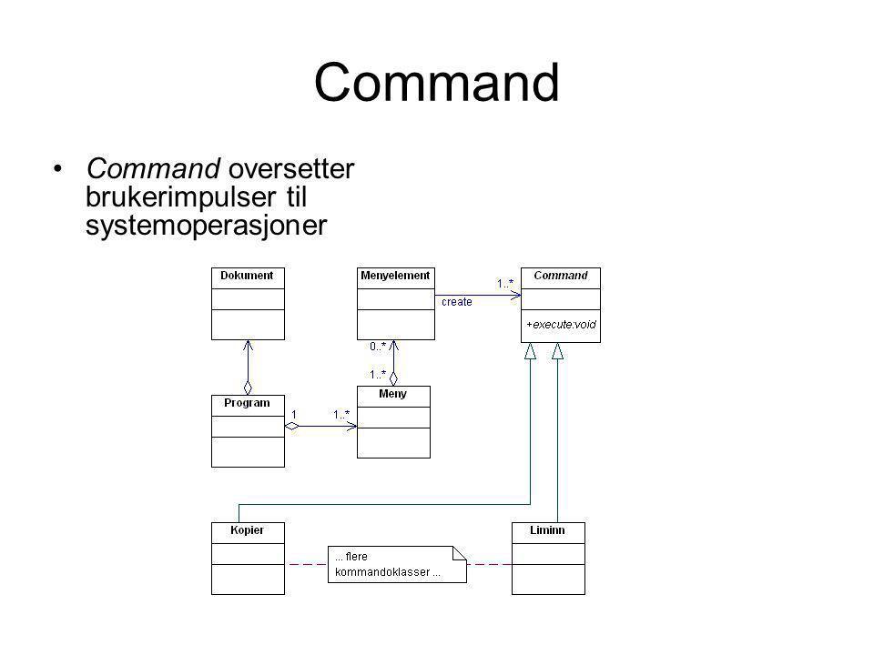 Command Command oversetter brukerimpulser til systemoperasjoner