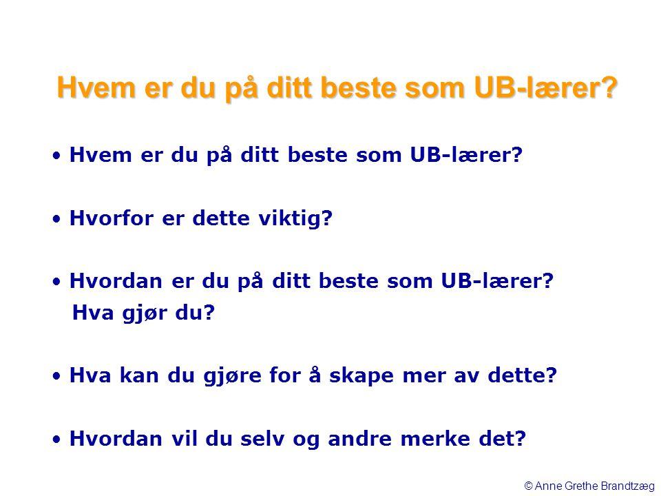 Hvem er du på ditt beste som UB-lærer