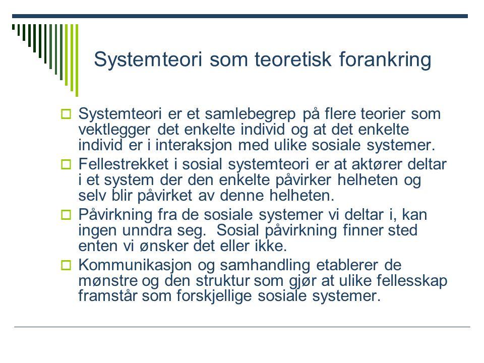Systemteori som teoretisk forankring