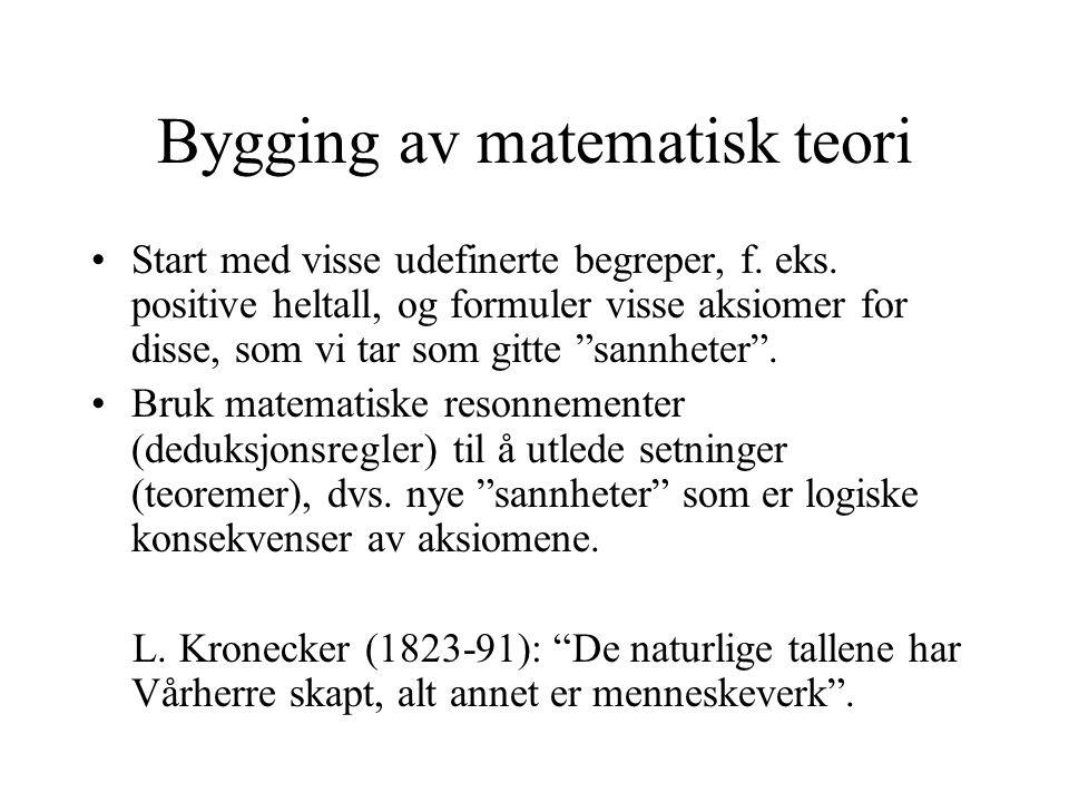 Bygging av matematisk teori