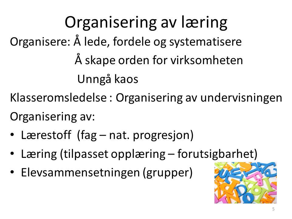 Organisering av læring