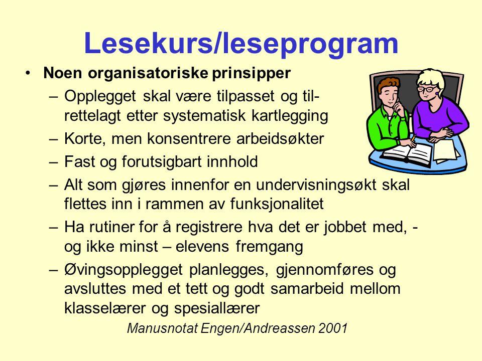 Lesekurs/leseprogram