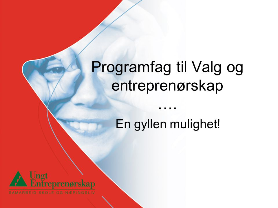 Programfag til Valg og entreprenørskap ….