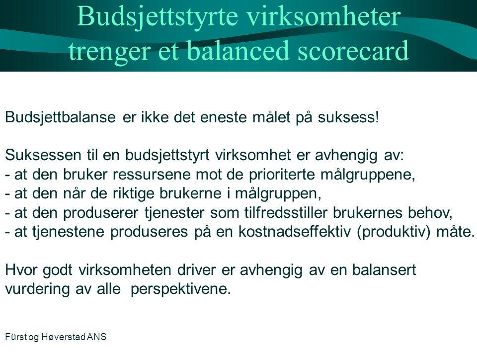 Budsjettstyrte virksomheter trenger et balanced scorecard