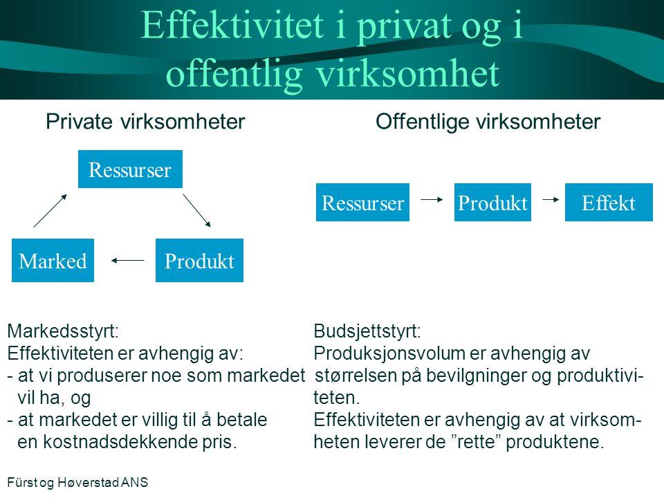 Effektivitet i privat og i offentlig virksomhet
