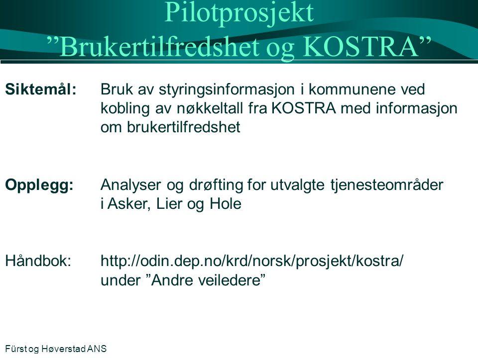 Pilotprosjekt Brukertilfredshet og KOSTRA