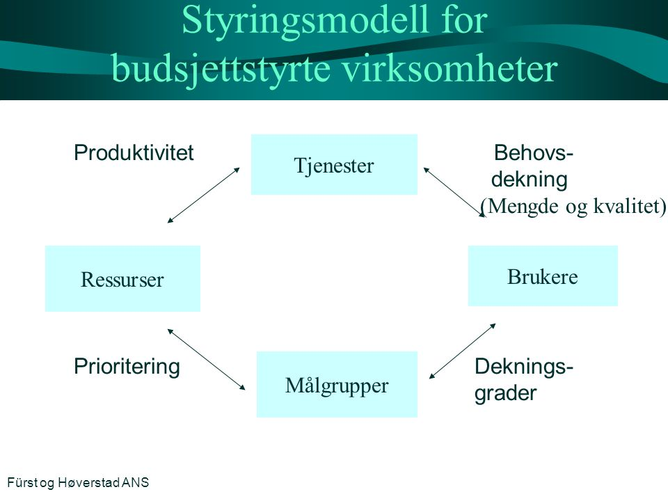 Styringsmodell for budsjettstyrte virksomheter