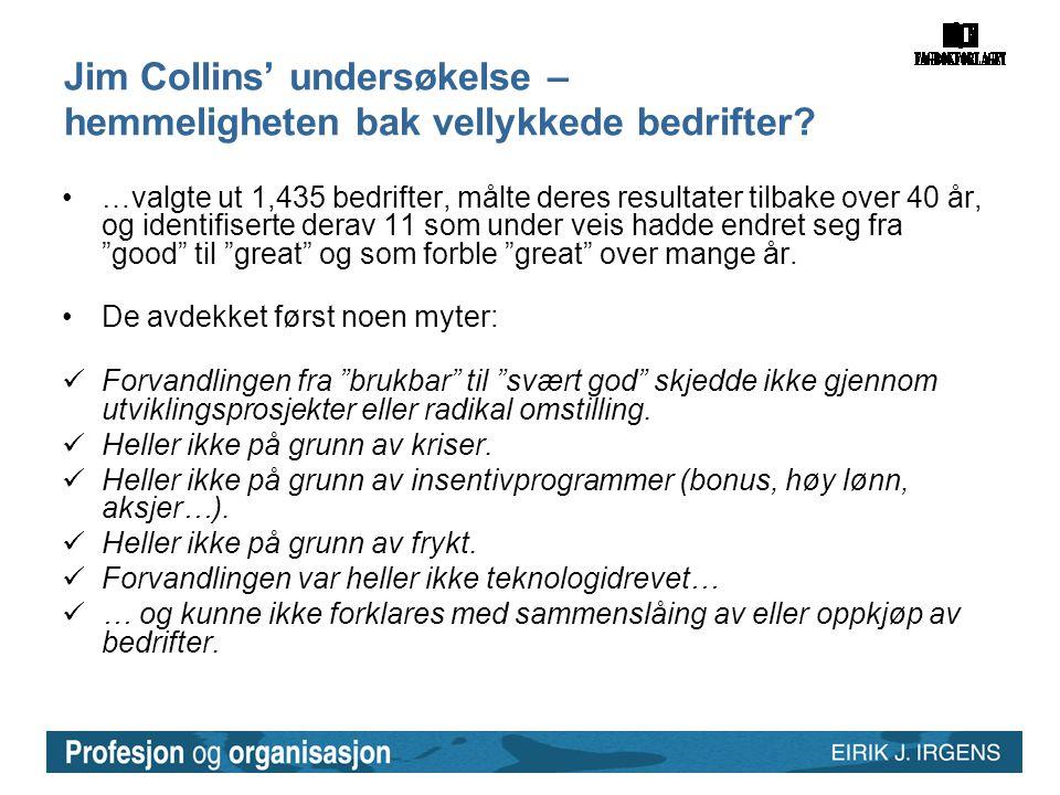 Jim Collins' undersøkelse – hemmeligheten bak vellykkede bedrifter