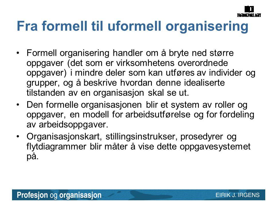 Fra formell til uformell organisering