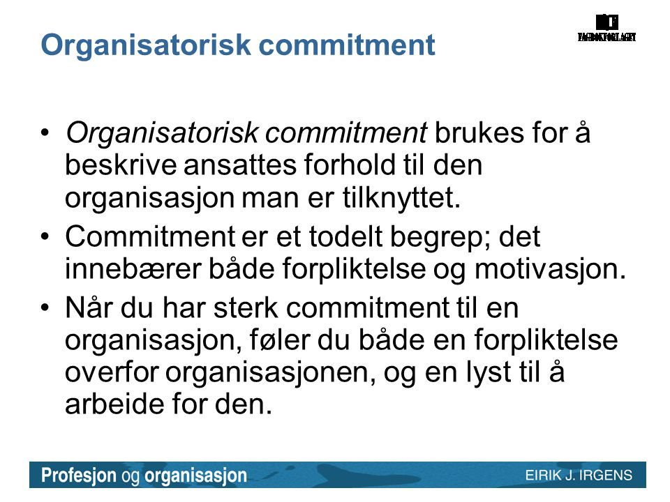 Organisatorisk commitment
