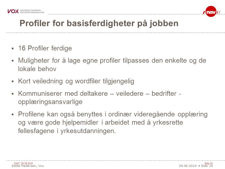 Profiler for basisferdigheter på jobben