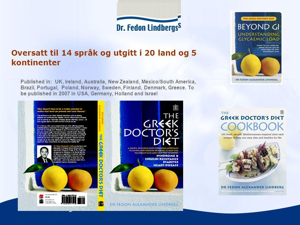 Oversatt til 14 språk og utgitt i 20 land og 5 kontinenter
