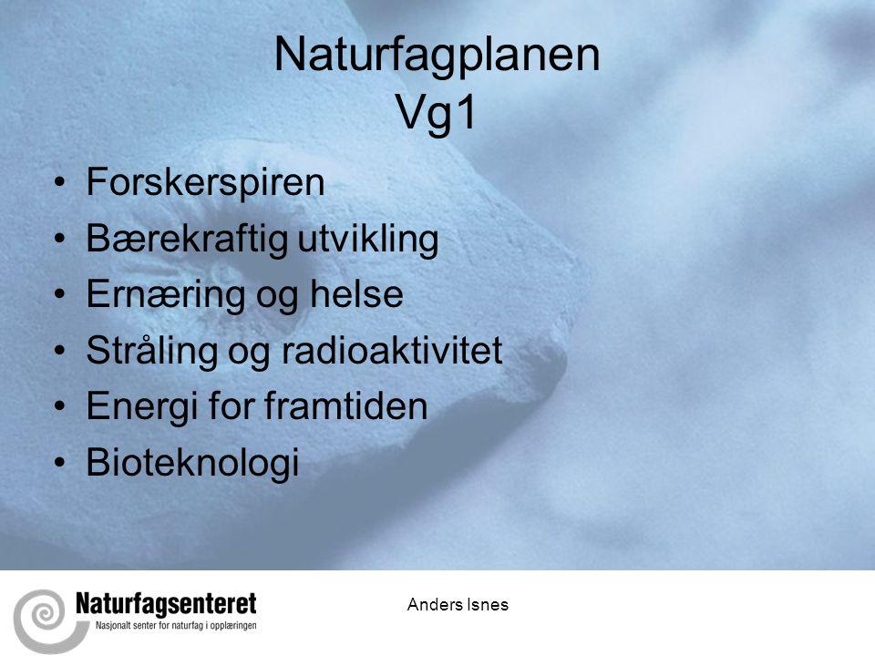 Naturfagplanen Vg1 Forskerspiren Bærekraftig utvikling