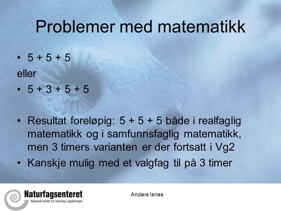 Problemer med matematikk