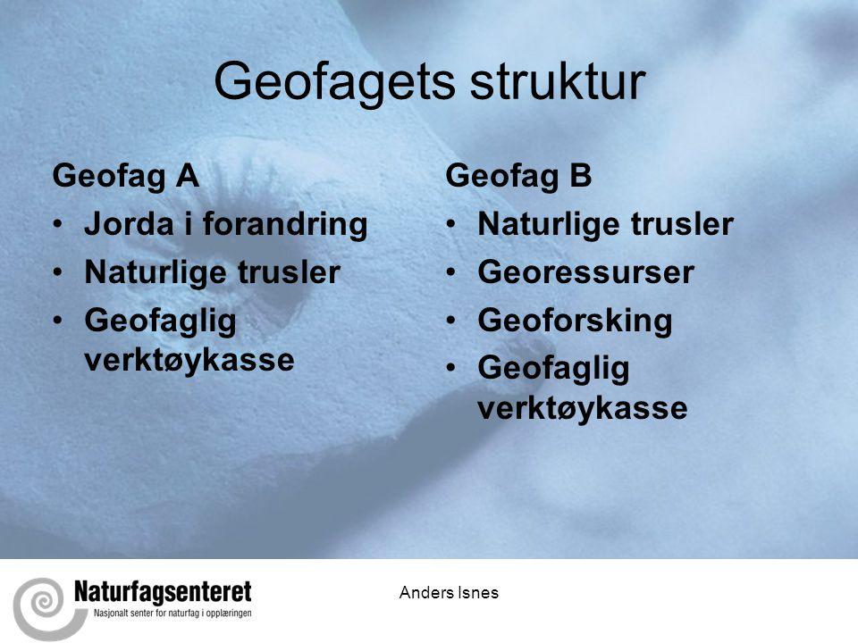 Geofagets struktur Geofag A Jorda i forandring Naturlige trusler