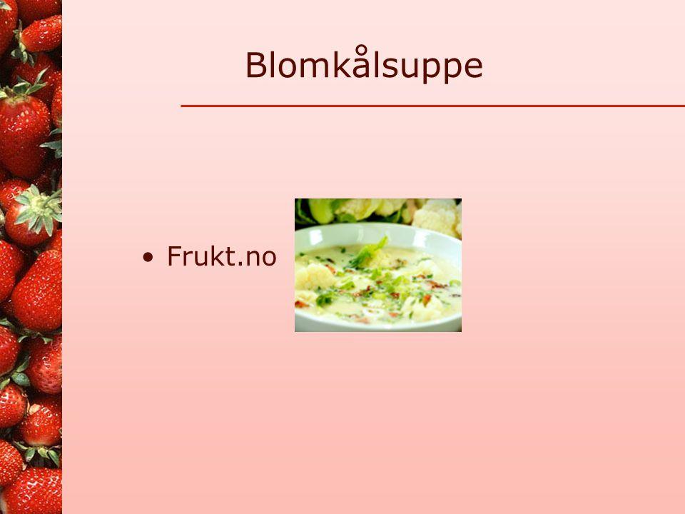Blomkålsuppe Frukt.no