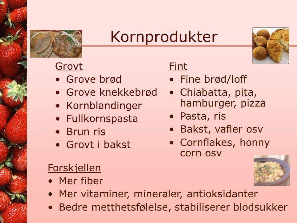 Kornprodukter Grovt Grove brød Grove knekkebrød Kornblandinger