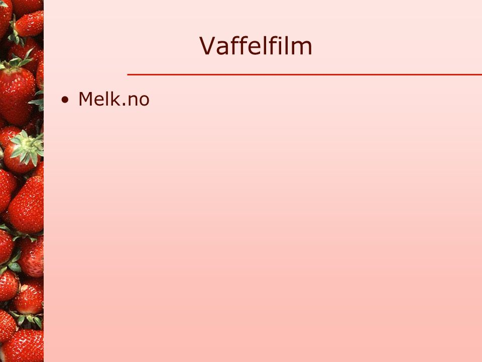 Vaffelfilm Melk.no