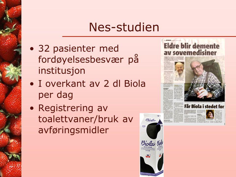 Nes-studien 32 pasienter med fordøyelsesbesvær på institusjon
