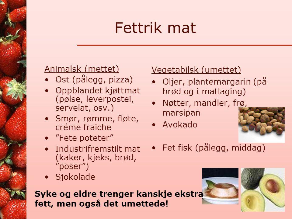 Fettrik mat Animalsk (mettet) Ost (pålegg, pizza)