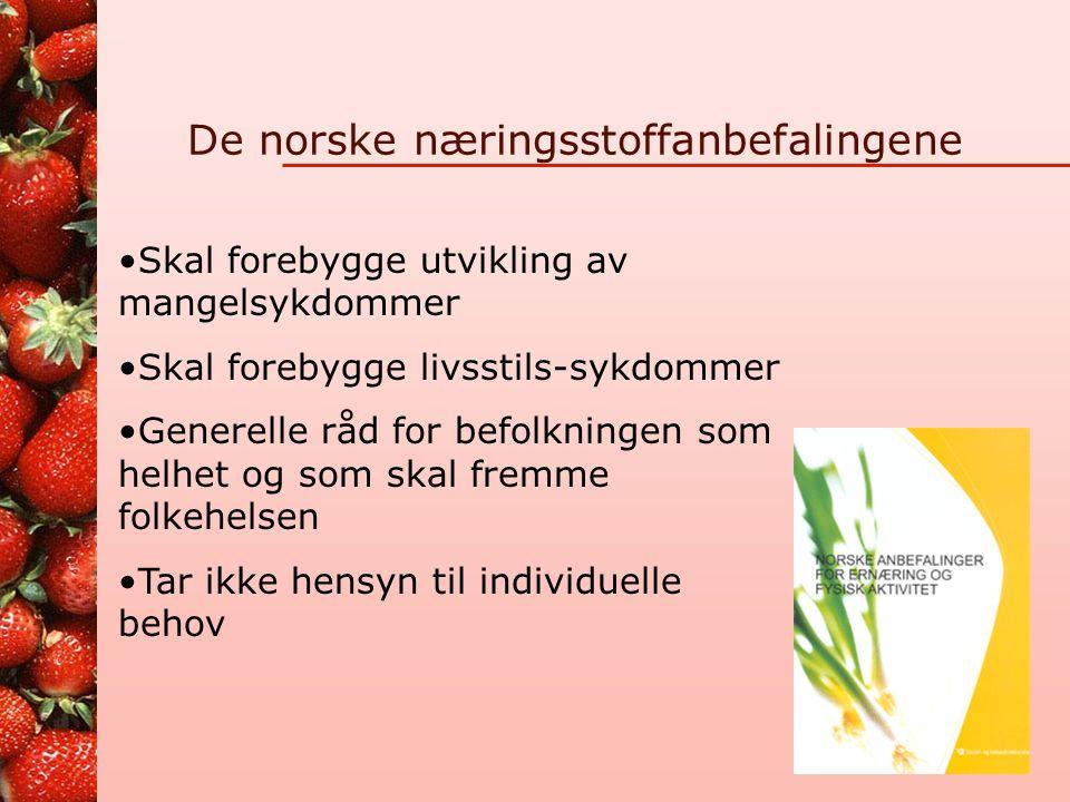 De norske næringsstoffanbefalingene