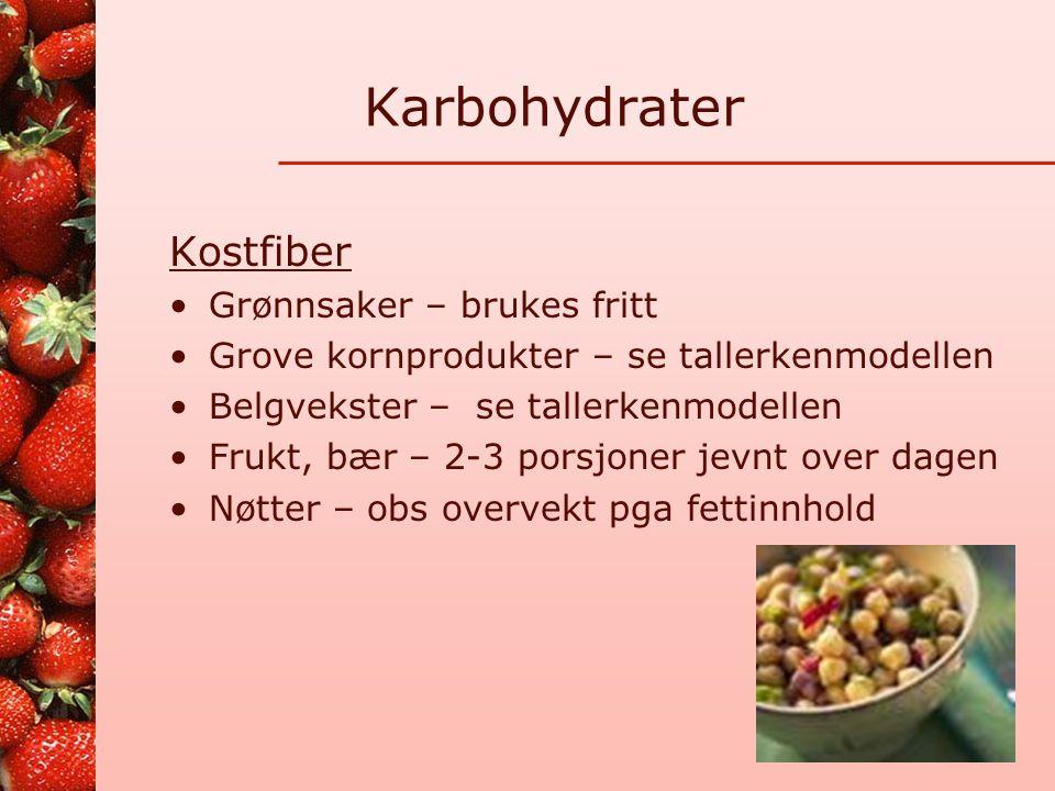 Karbohydrater Kostfiber Grønnsaker – brukes fritt
