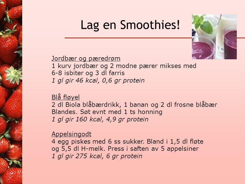 Lag en Smoothies! Jordbær og pæredrøm
