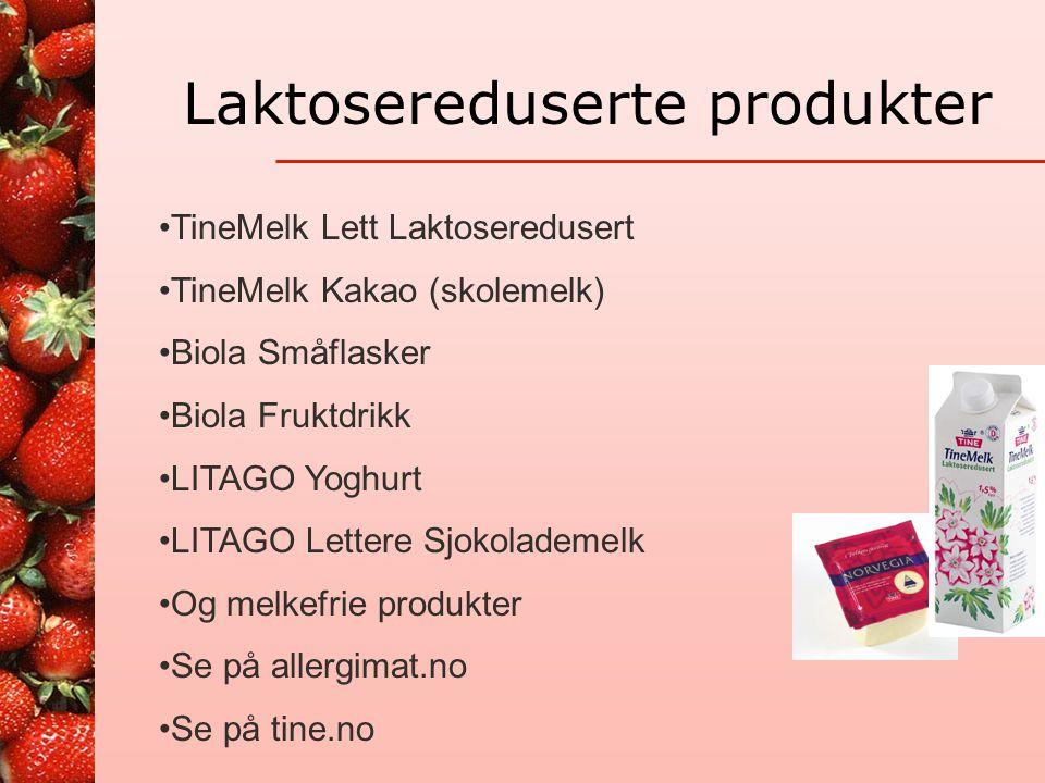 Laktosereduserte produkter