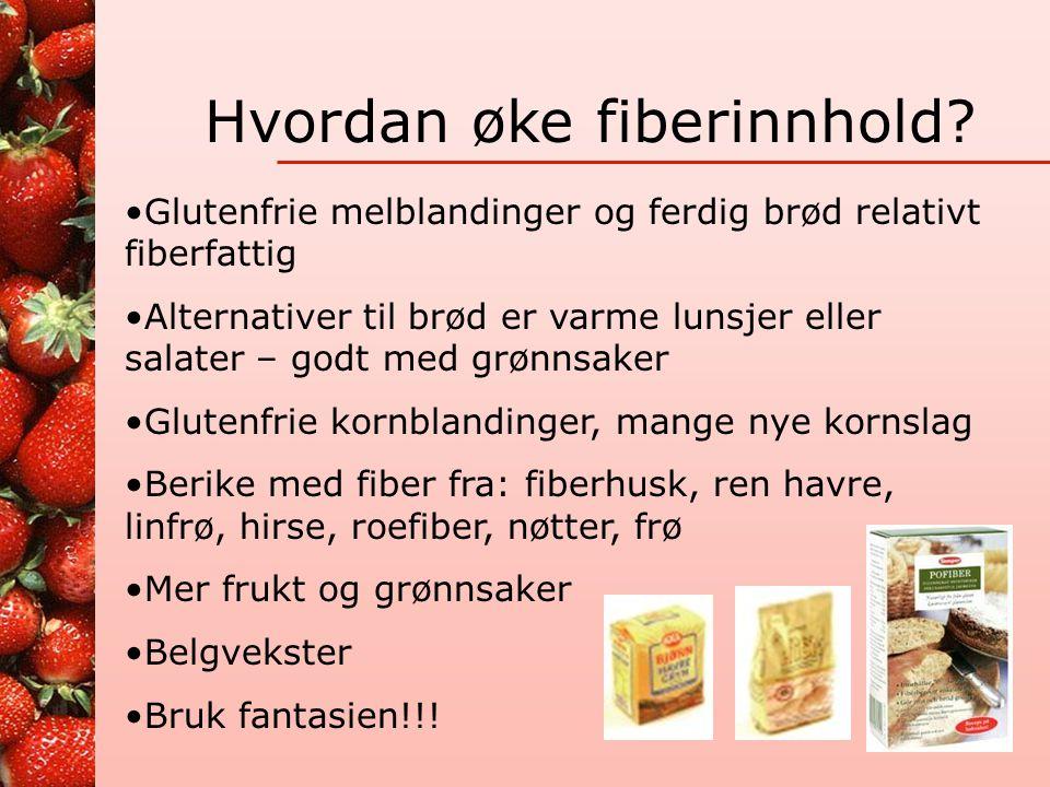 Hvordan øke fiberinnhold