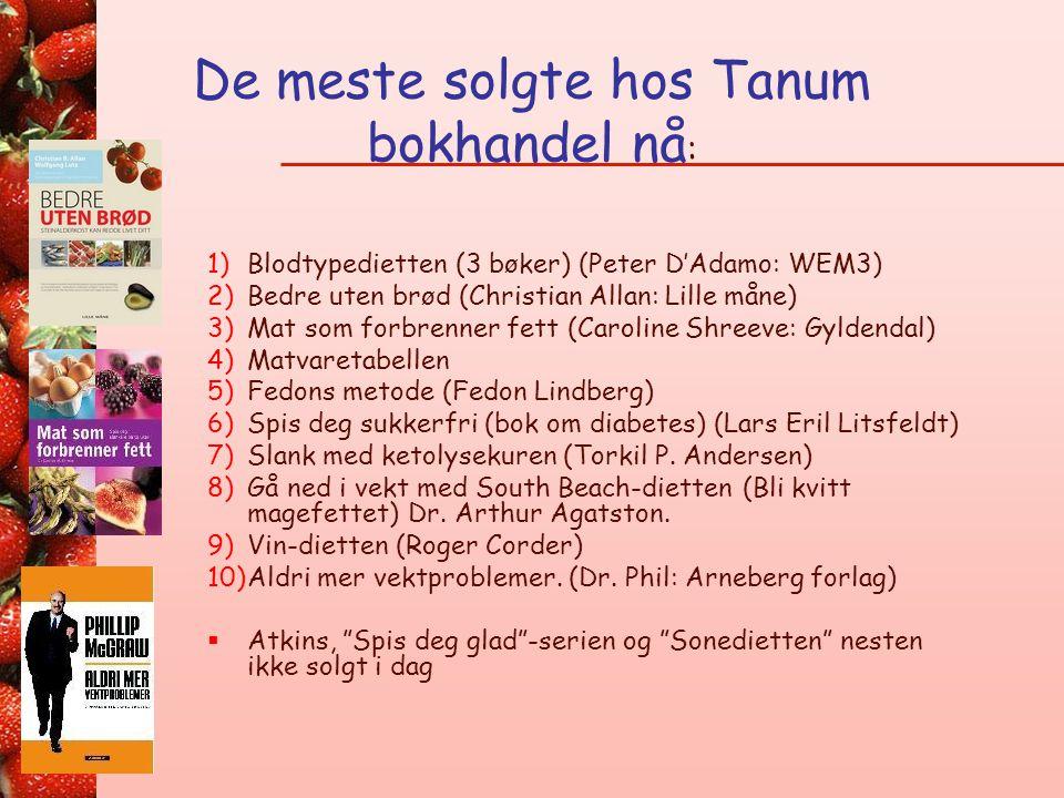 De meste solgte hos Tanum bokhandel nå: