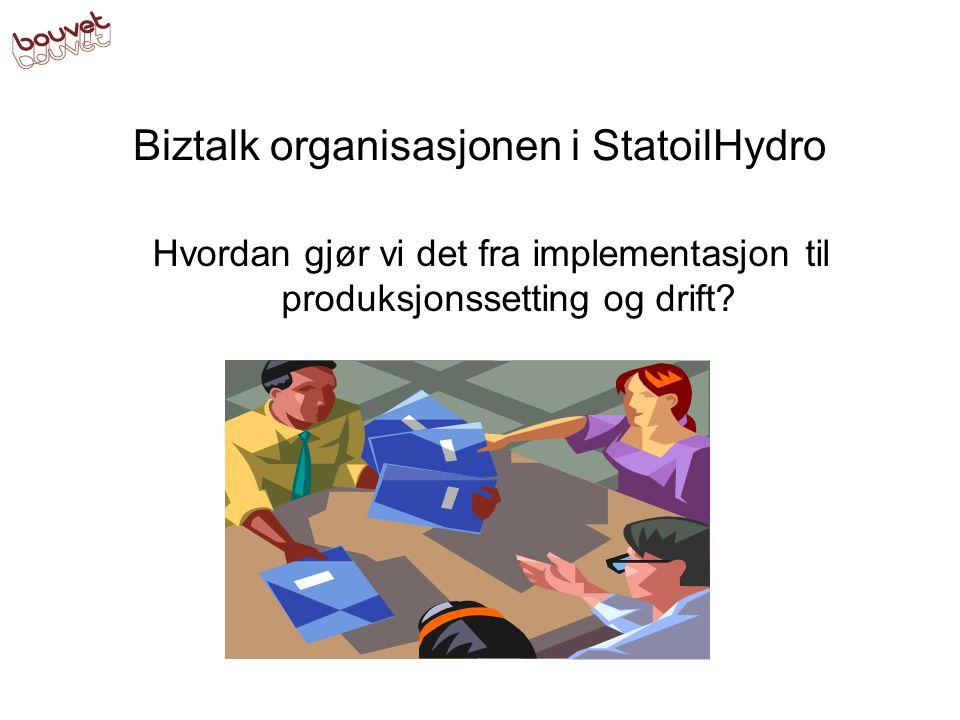 Biztalk organisasjonen i StatoilHydro