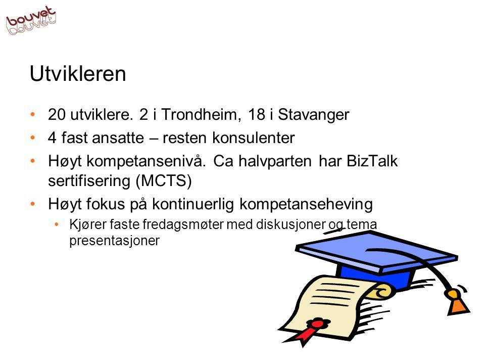 Utvikleren 20 utviklere. 2 i Trondheim, 18 i Stavanger