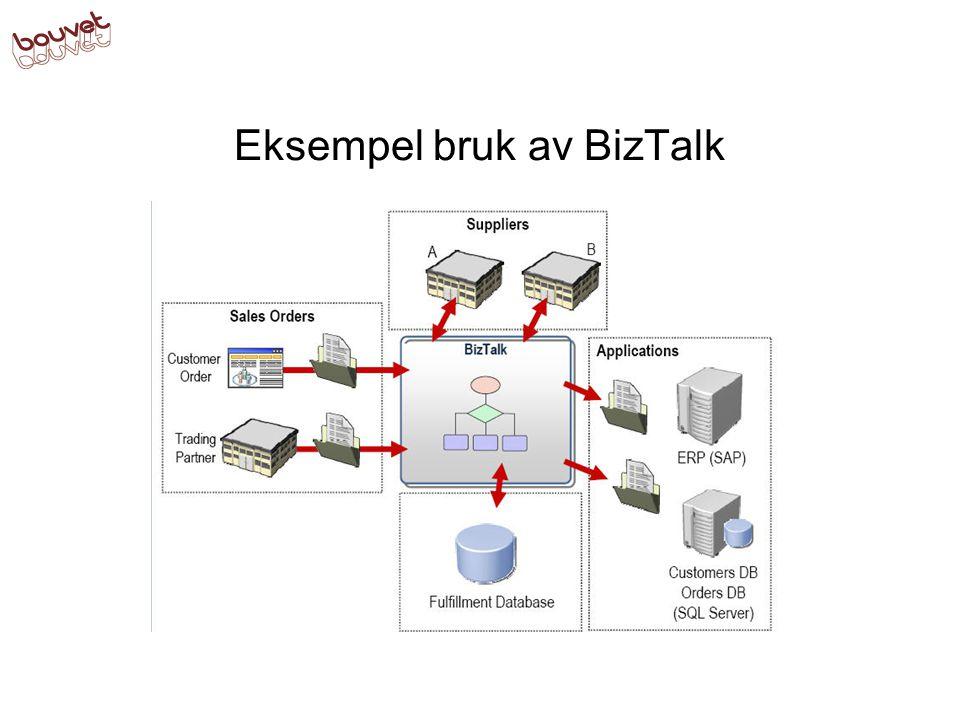 Eksempel bruk av BizTalk