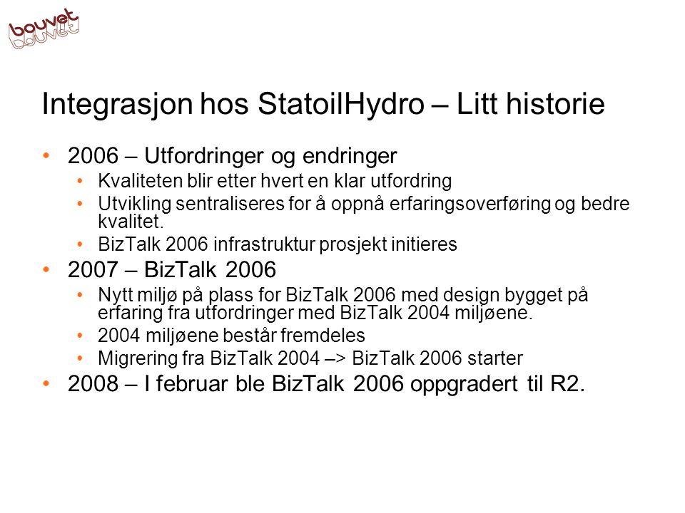 Integrasjon hos StatoilHydro – Litt historie