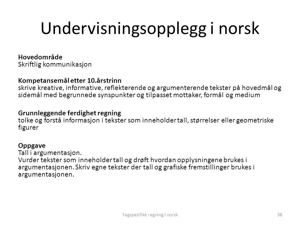 Undervisningsopplegg i norsk