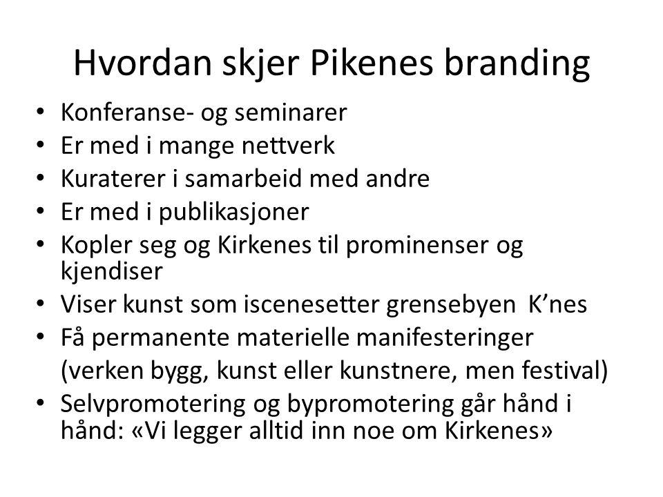 Hvordan skjer Pikenes branding