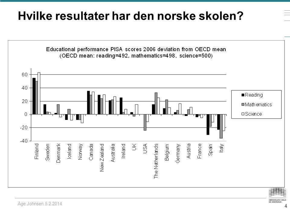 Hvilke resultater har den norske skolen