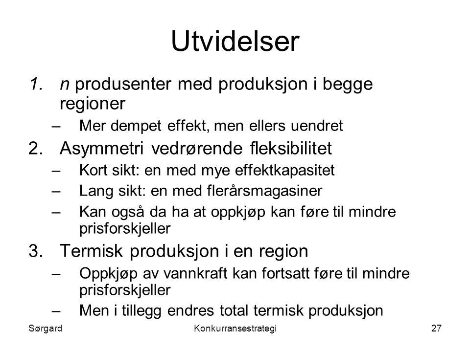 Utvidelser n produsenter med produksjon i begge regioner