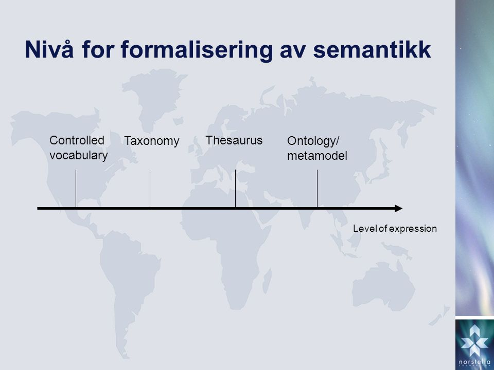 Nivå for formalisering av semantikk