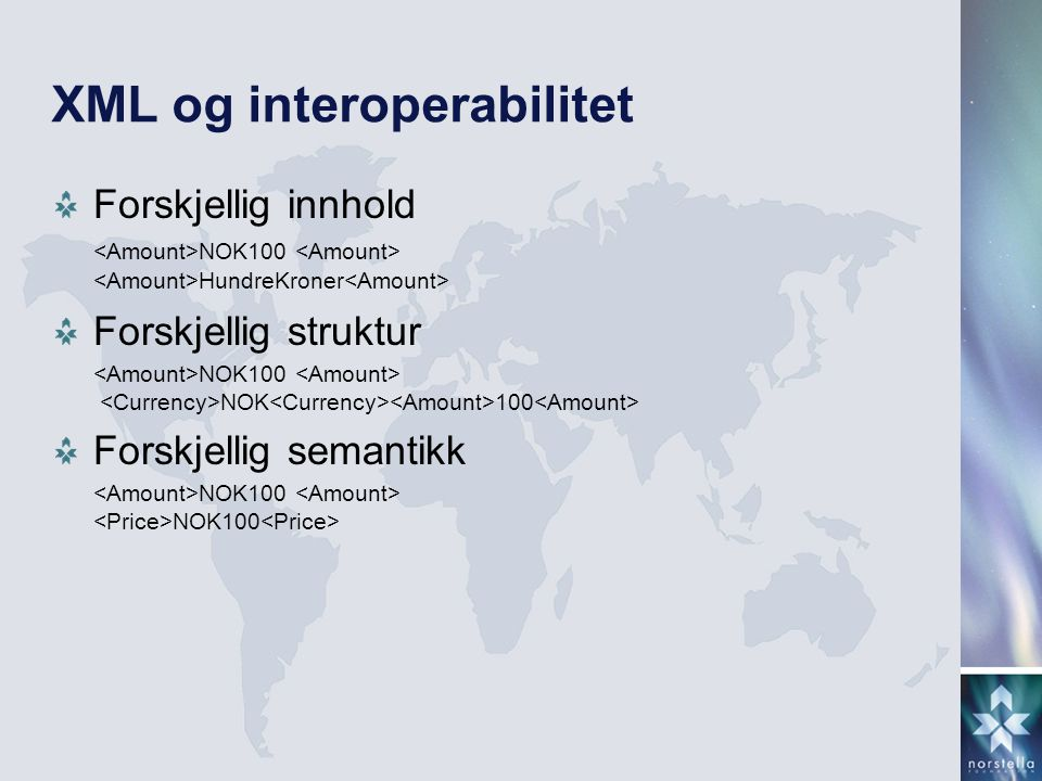 XML og interoperabilitet