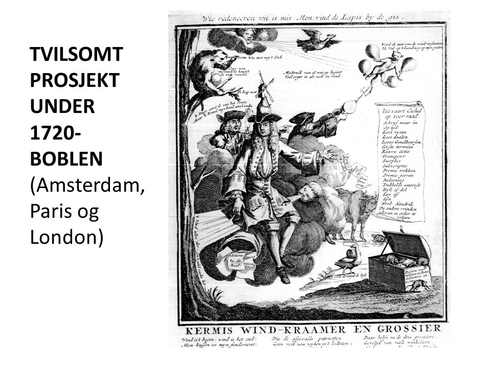 TVILSOMT PROSJEKT UNDER 1720-BOBLEN (Amsterdam, Paris og London)
