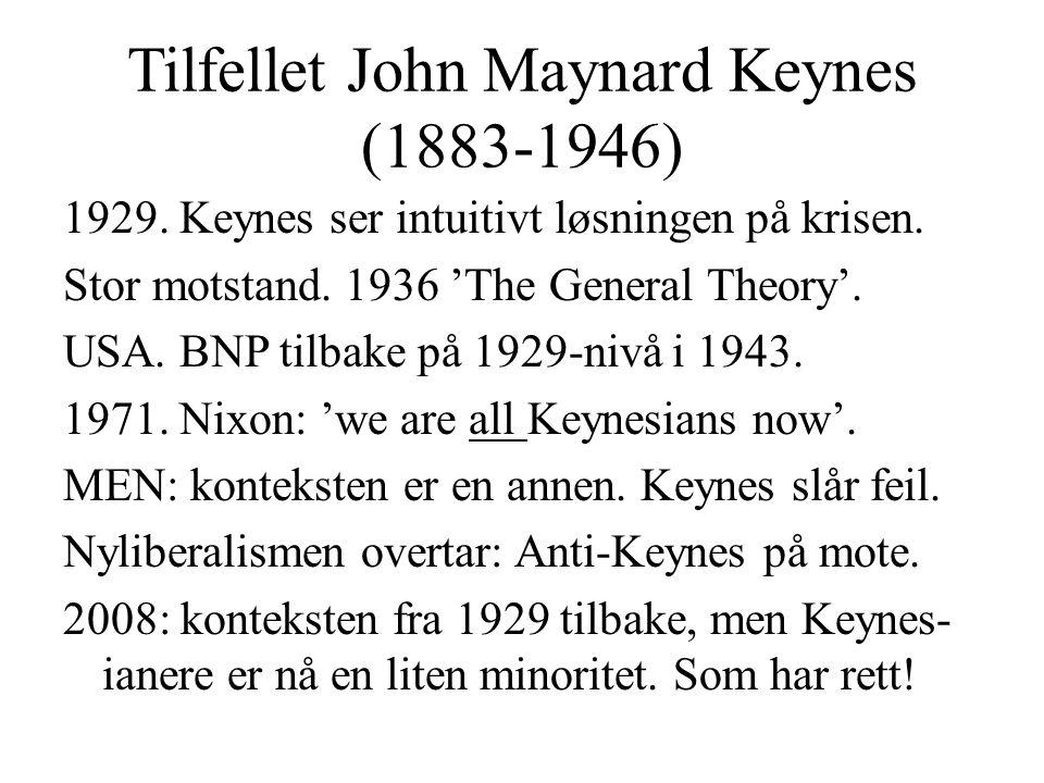 Tilfellet John Maynard Keynes (1883-1946)