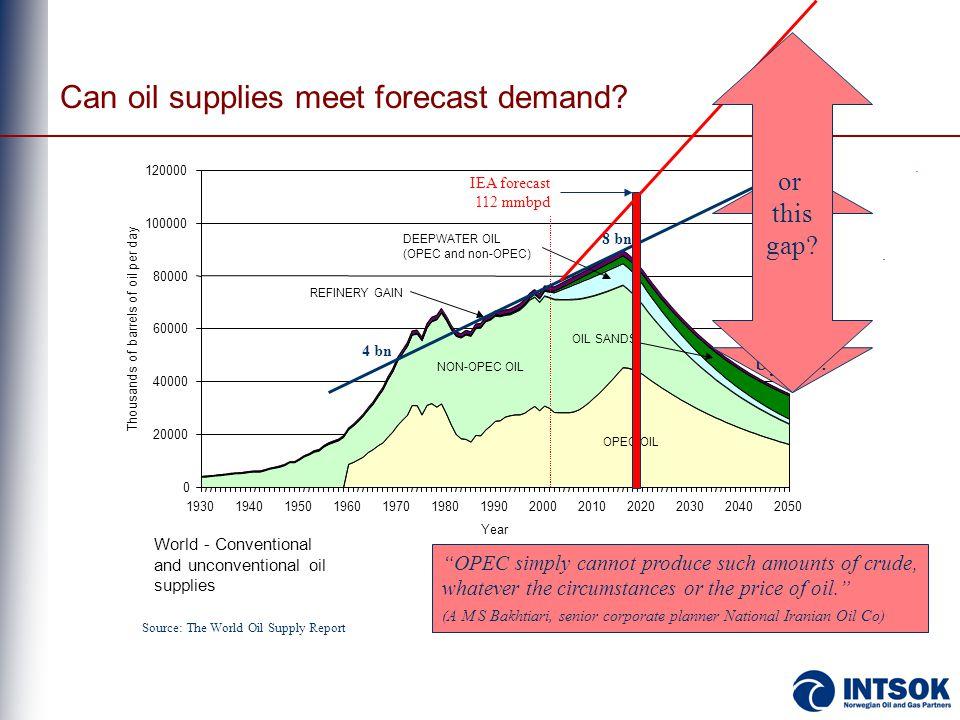 Can oil supplies meet forecast demand